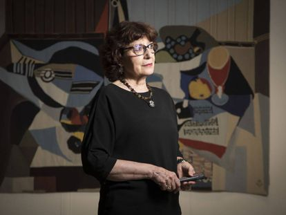 La directora general del libro, Olvido García Valdés, el pasado 26 de julio, en Madrid.