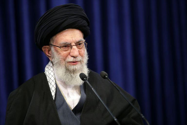 Ell líder supremo iraní, el ayatolá Jamenei, en un discurso televisado el 8 de enero.