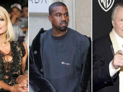 Paris Hilton, Kanye West, y John Voight.