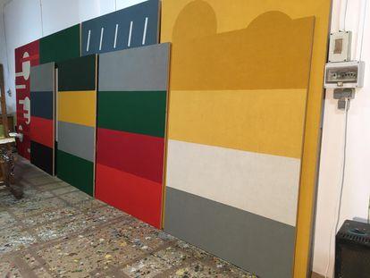El estudio de Antonio Ballester Moreno durante la cuarentena.