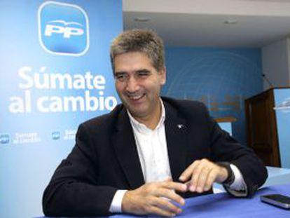 El nuevo director general de la Policía Ignacio Cosidó, durante la pasada campaña electoral.