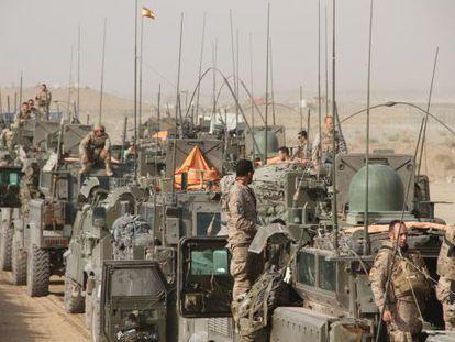 Llegada a la base de Herat de los últimos soldados de Qala- i- Naw, en 2013.