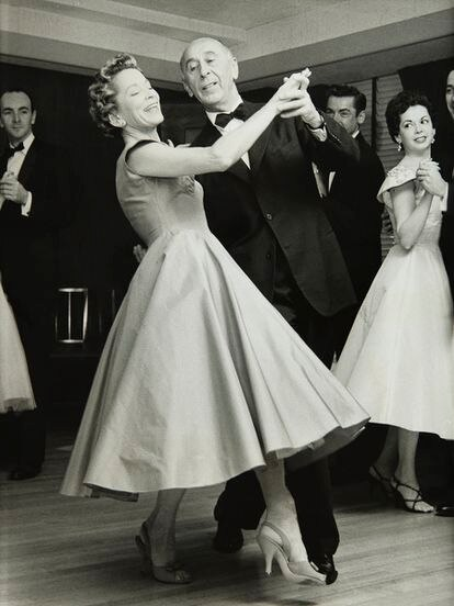 Kathryn and Arthur Murray, dancing during an NBC TV show in the 1950s.