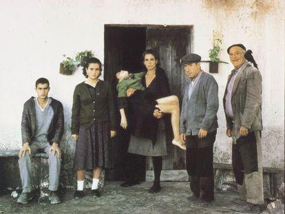 Alfredo Landa y Francisco Rabal (primero y segundo por la derecha) ganaron en 1984 ex aequo el premio al mejor actor en Cannes.