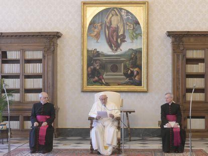El Papa, en su audiencia semanal, el pasado jueves en el Vaticano.