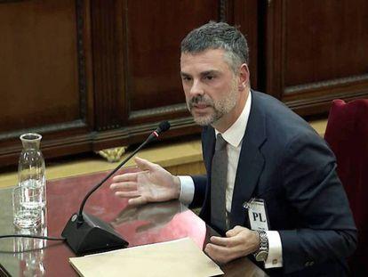 Santi Vila, durante su declaración.