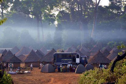Acampada en el oeste de Costa de Marfil.