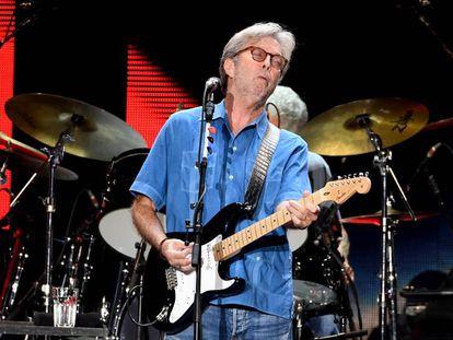 Eric Clapton en un concierto en California en septiembre.