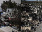 El incendio del miércoles pasado arrasó con los chamizos y las tiendas de campaña que se levantaban en este lugar de la isla griega de Lesbos en el que vivían aproximadamente 13.000 refugiados.
