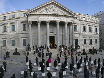 Vista general de la celebración del 42º aniversario de la aprobación de la Ley Fundamental española.
