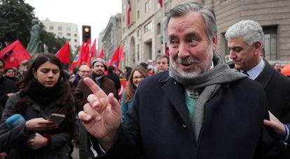 Alejandro Guillier, el pasado 11 de septiembre, en el homenaje al expresidente Salvador Allende.