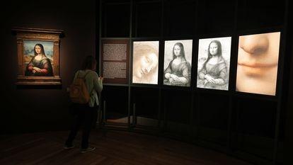Vista de la exposición 'Leonardo y la copia de la Mona Lisa. Nuevos planteamientos sobre la práctica del taller vinciano'.