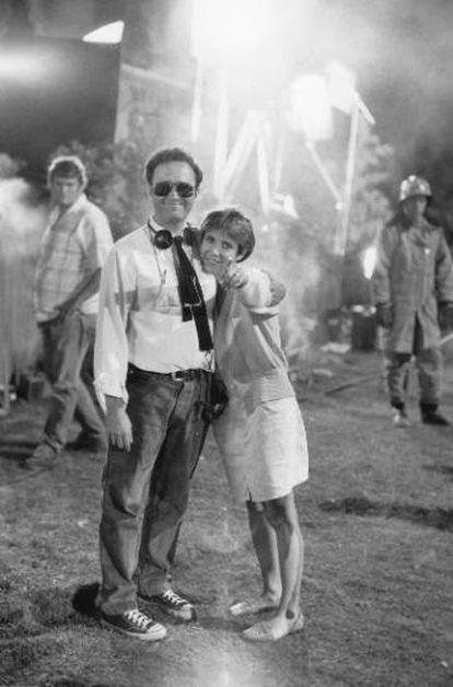 Dante con Carrie Fisher en la película 'No mataras al vecino'.