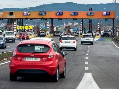 Uno de los peajes de la autopista AP-7 en la provincia de Girona, en enero de 2020.