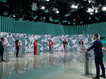 Un momento del debate electoral previo a los comicios a la Asamblea de Madrid celebrado este miércoles.