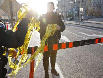 Agentes policiales en Ottawa el miércoles.