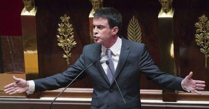 Manuel Valls, en el Parlamento francés.