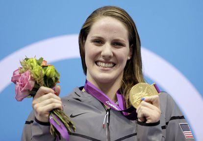 Franklin sonríe con un oro en Londres 2012.