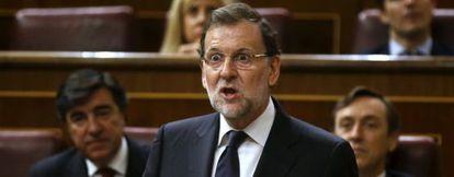 Mariano Rajoy, este 21 de octubre, en el Congreso de los Diputados.