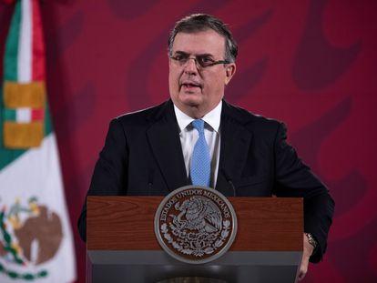 Ebrard, la semana pasada en México.