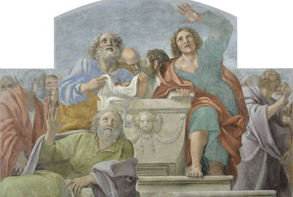 'Apóstoles alrededor del sepulcro vacío', de Carracci, que se podrá ver en la exposición del MNAC.