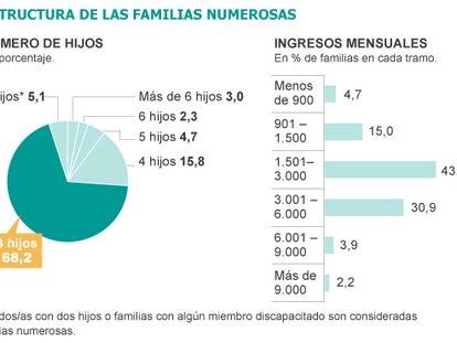 Fuente: Federación Española de Familias Numerosas.