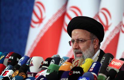 El presidente electo, Ebrahim Raisi, este lunes en Teherán (Irán),
