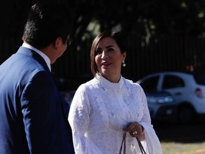Rosario Robles, en el Reclusorio Sur.