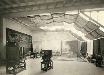 Estudio de Pau Audouard en la Casa Lleó i Morera, en 1905.
