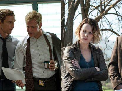 Fotogramas de la primera y segunda temporada de 'True Detective'.