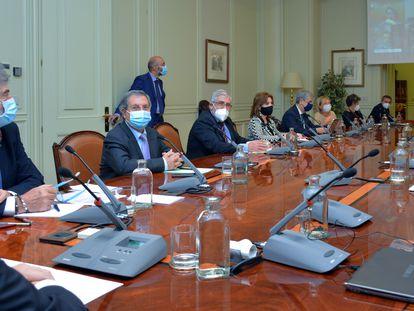 Reunión en Pleno del Consejo General del Poder Judicial, el pasado 28 de octubre.