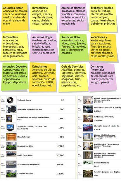 Páginas de Tablondeanuncios.com y Segundamano.es.