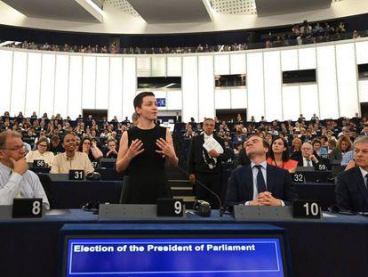 La europarlamentaria Ska Keller, del grupo Los Verdes, en el Parlamento Europeo, en Estrasburgo (Francia).