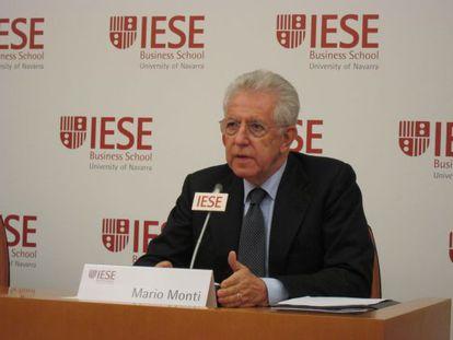 Mario Monti, durante la rueda de prensa previa a la conferencia