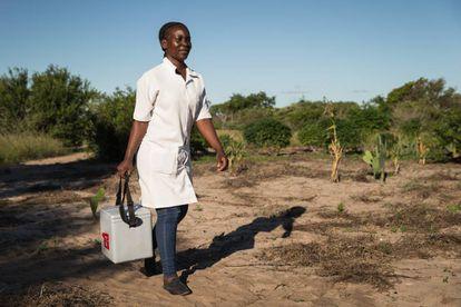 Campaña de vacunación en zonas rurales en Mozambique, uno de los países que recibe ayuda de Gavi.