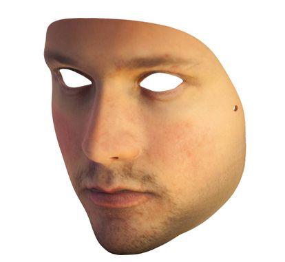 Prótesis facial en 3D para eludir la videovigilancia.