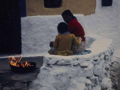 Imagen tomada por Carlos Pérez Siquier en La Chanca (Almería) en 1965.