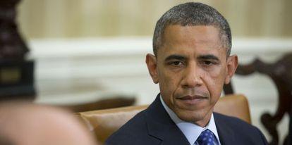 Obama, este jueves en la Casa Blanca.