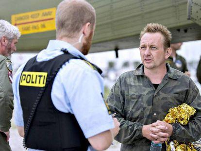 El inventor danés Peter Madsen, tras ser rescatado de su submarino el 11 de agosto.