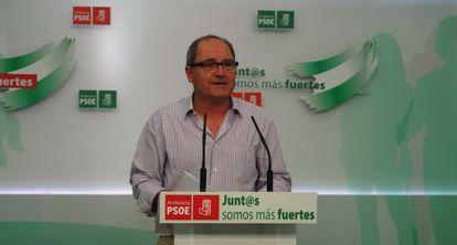 El secretario de Organización del PSOE andaluz, Juan Cornejo.