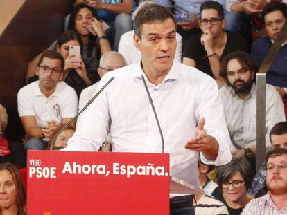 Pedro Sánchez, este sábado en Vigo.