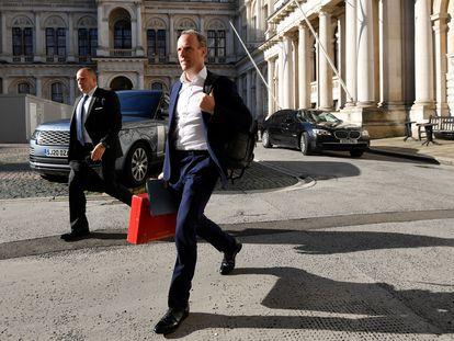 El ministro de Exteriores del Reino Unido, Dominic Raab, este martes en Londres.