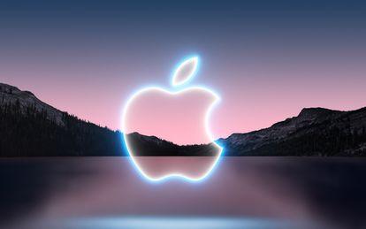 Imagen del anuncio del evento de Apple con el logo de la compañía.