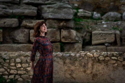 La escritora Irene Vallejo, el pasado jueves en Zaragoza.