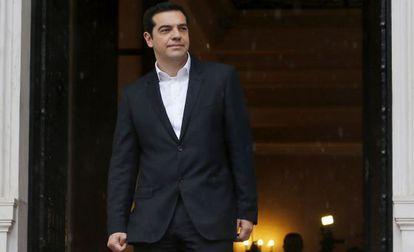El primer ministro griego, Alexis Tsipras, este jueves en Atenas.