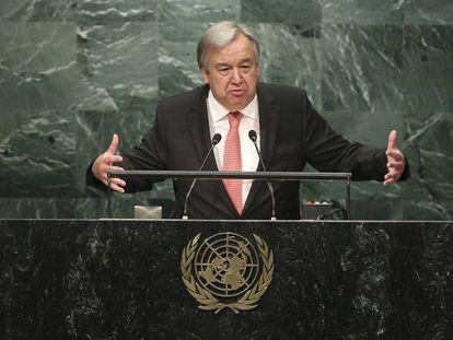 Antonio Guterres, el pasado 13 de octubre.