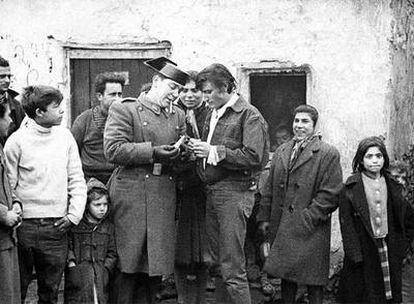 Antonio Gades, durante el rodaje de <i>Los Tarantos</i> (1963).