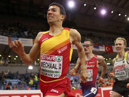 Mechaal, durante la prueba de los 3.000m.
