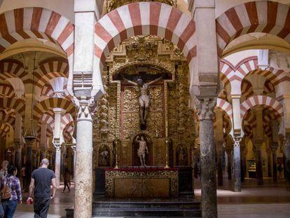 Interior de la Mezquita de Córdoba, en una imagen de septiembre de 2019.