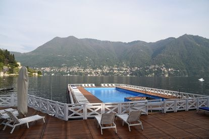 Una piscina del hotel Villa d'Este, retratada en abril de 2017.